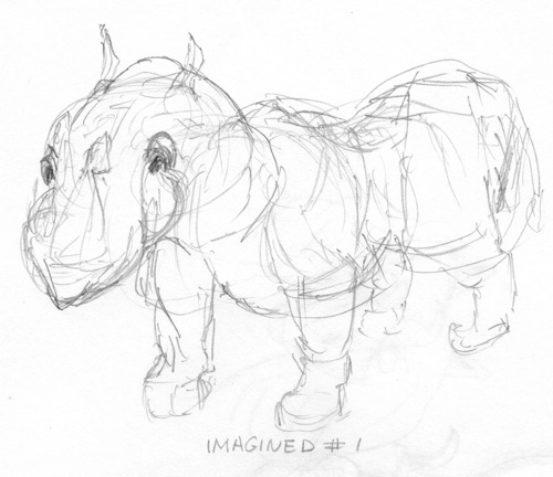 Rhino from imagination # 1